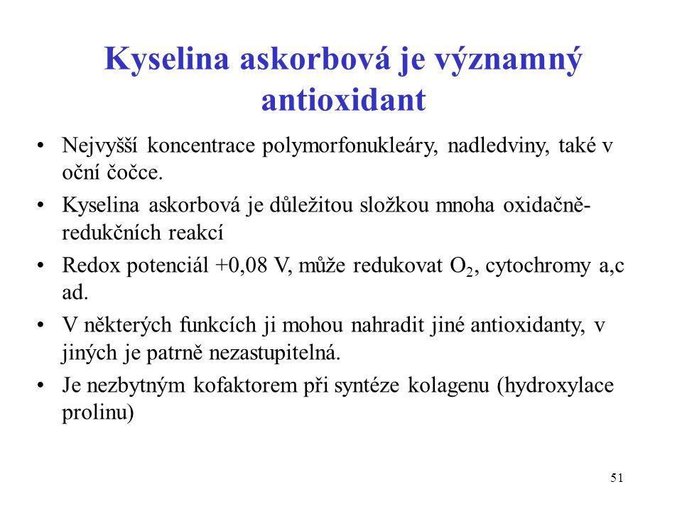 Kyselina askorbová je významný antioxidant