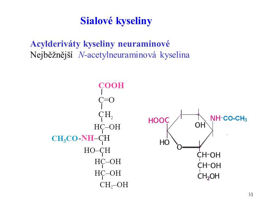 Sialové kyseliny Acylderiváty kyseliny neuraminové