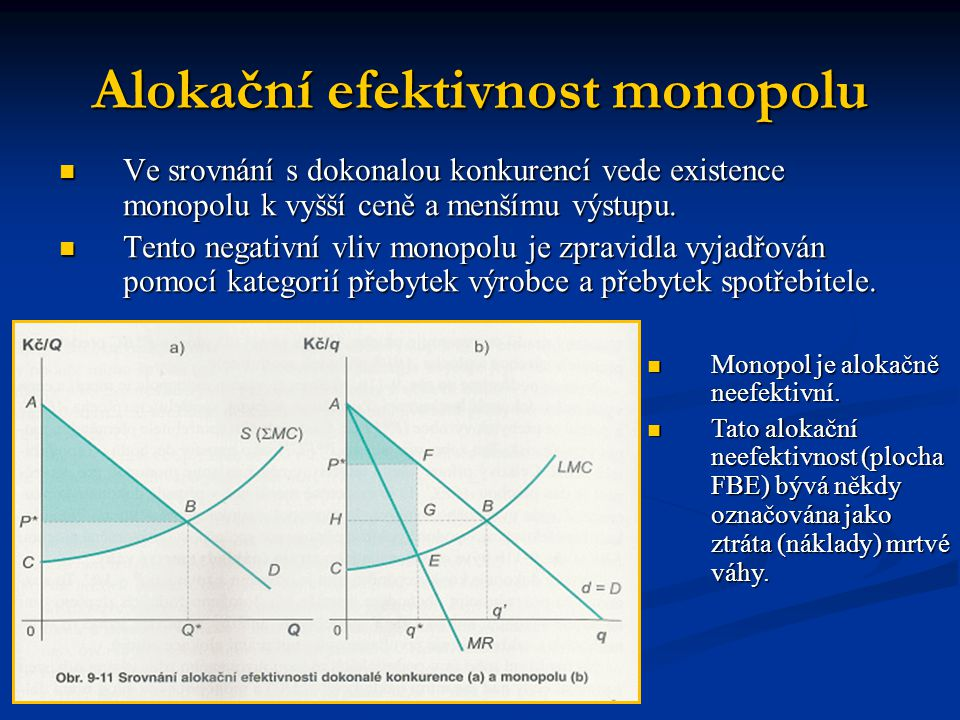 Alokační efektivnost monopolu