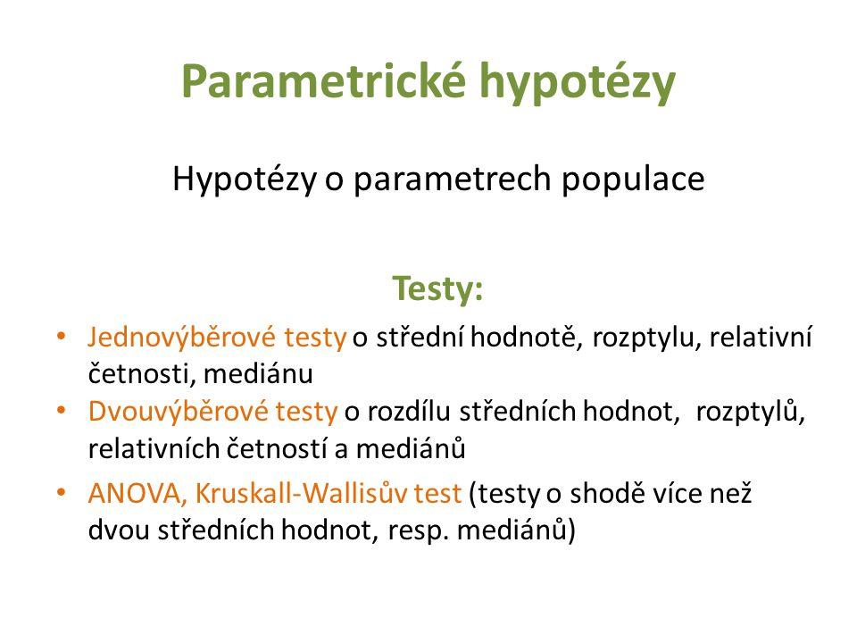Parametrické hypotézy