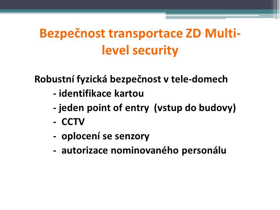Bezpečnost transportace ZD Multi-level security