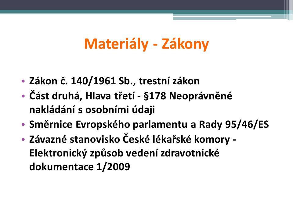 Materiály - Zákony Zákon č. 140/1961 Sb., trestní zákon