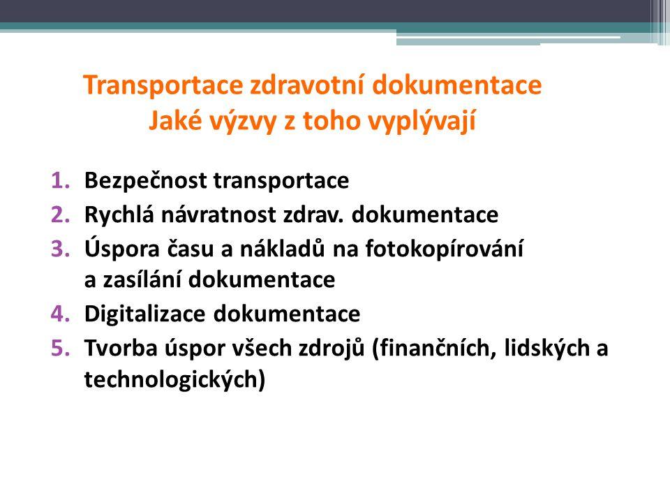 Transportace zdravotní dokumentace Jaké výzvy z toho vyplývají