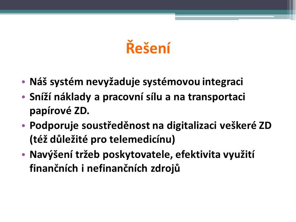 Řešení Náš systém nevyžaduje systémovou integraci