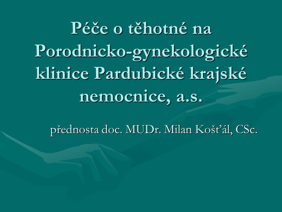 přednosta doc. MUDr. Milan Košťál, CSc.