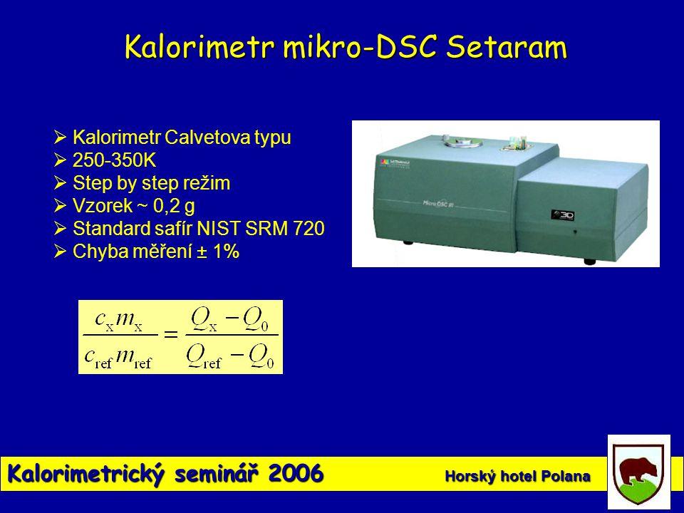 Kalorimetr mikro-DSC Setaram