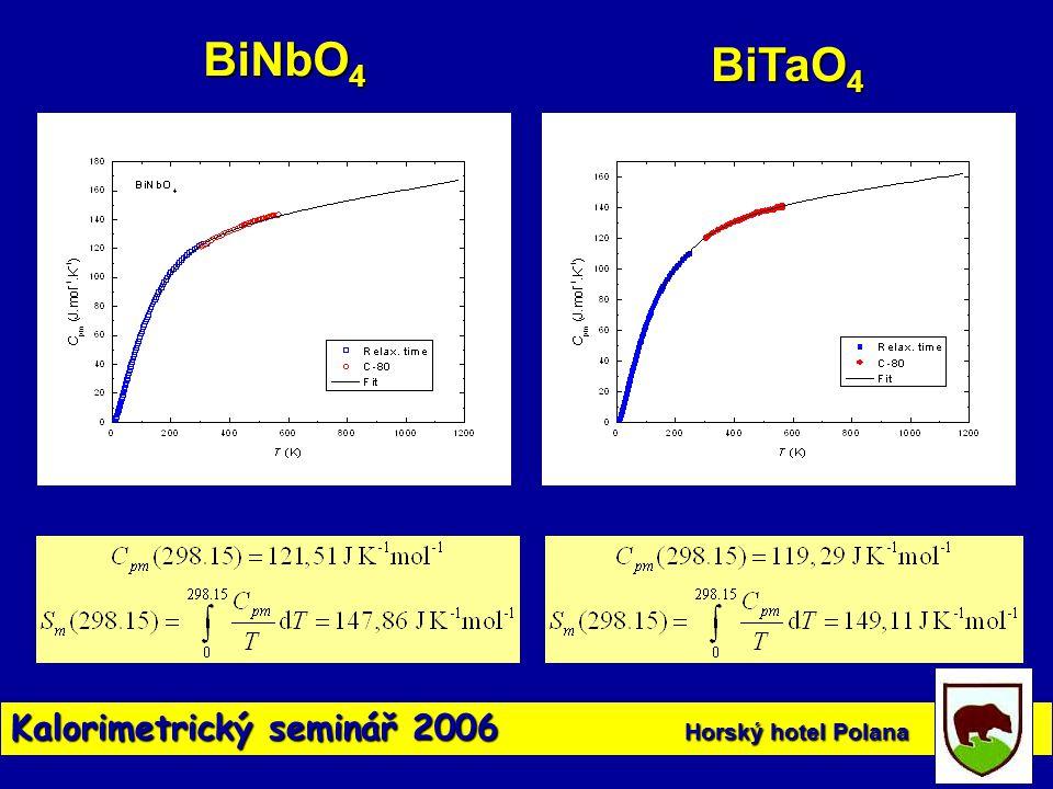 BiNbO4 BiTaO4 Kalorimetrický seminář 2006 Horský hotel Polana