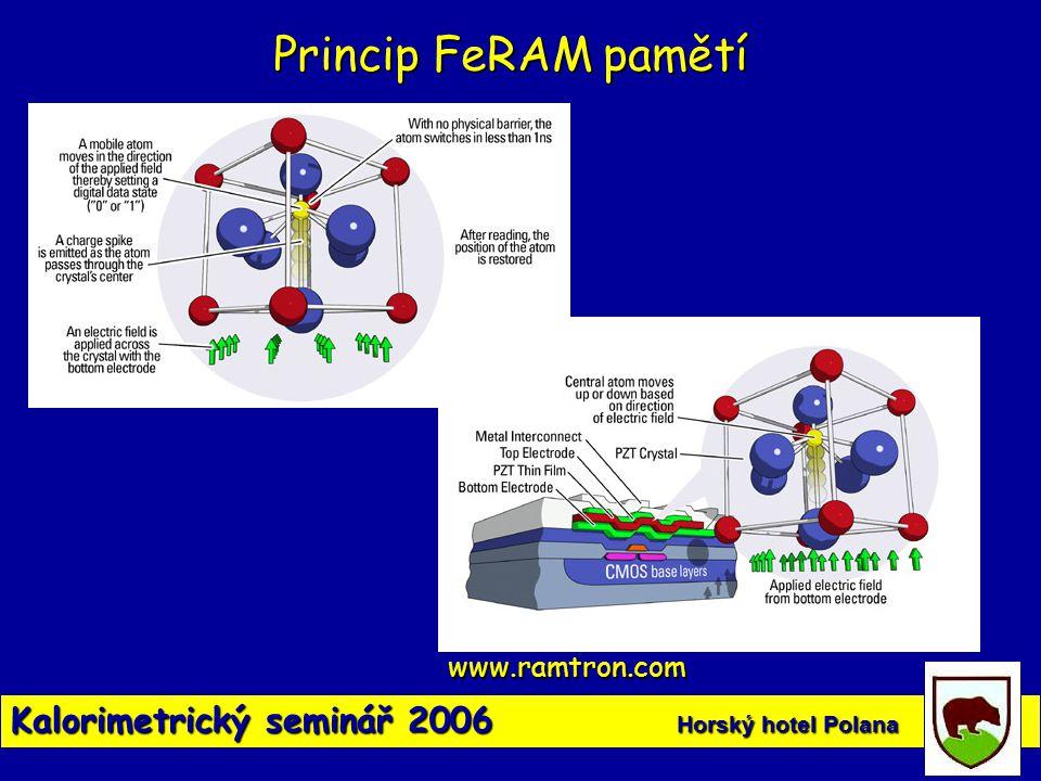 Princip FeRAM pamětí Kalorimetrický seminář 2006 Horský hotel Polana