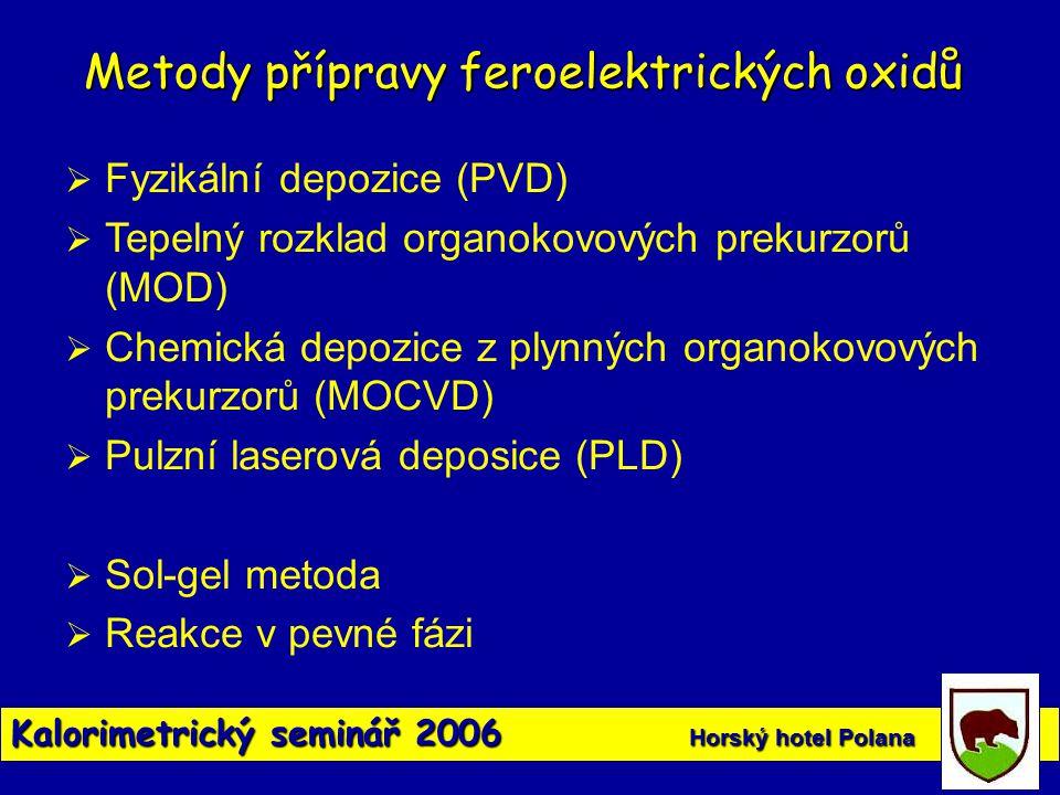 Metody přípravy feroelektrických oxidů