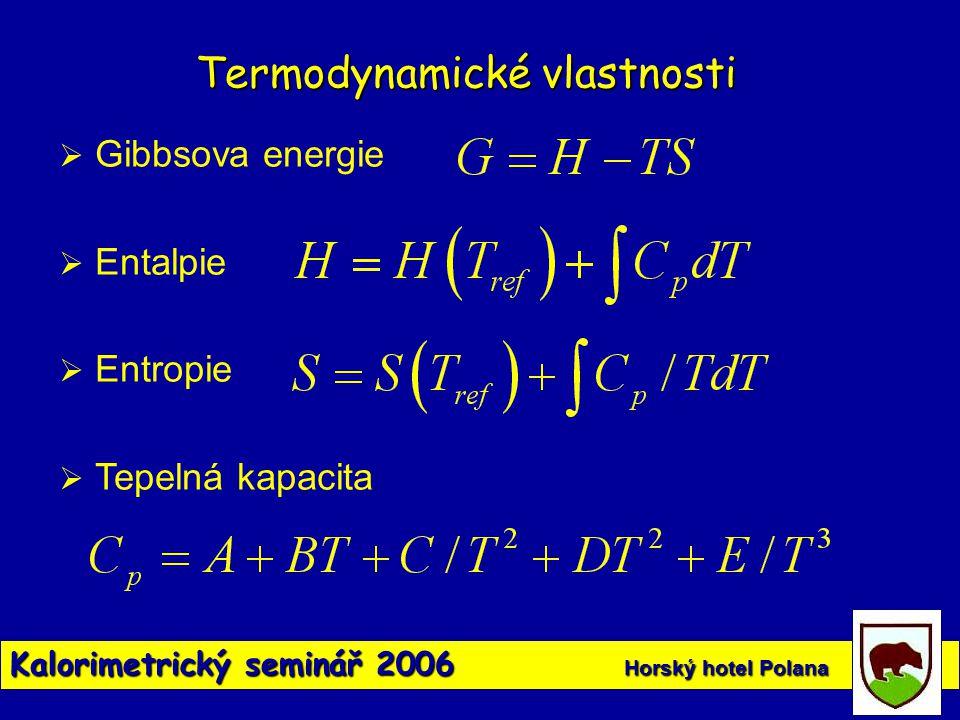 Termodynamické vlastnosti
