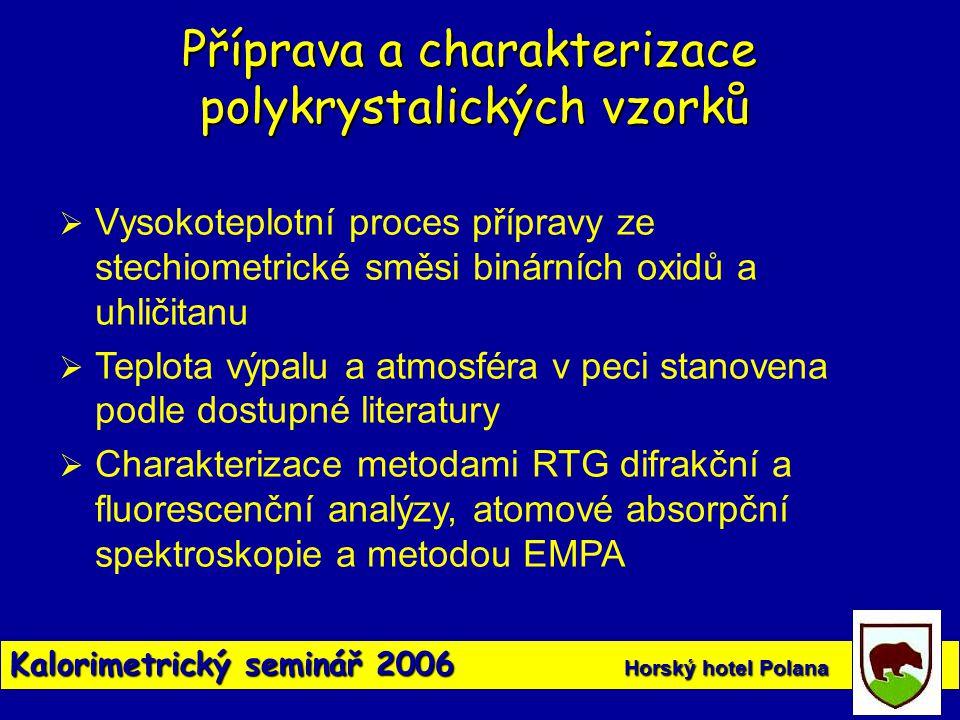 Příprava a charakterizace polykrystalických vzorků