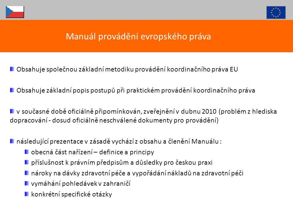 Manuál provádění evropského práva