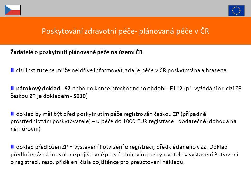 Poskytování zdravotní péče- plánovaná péče v ČR