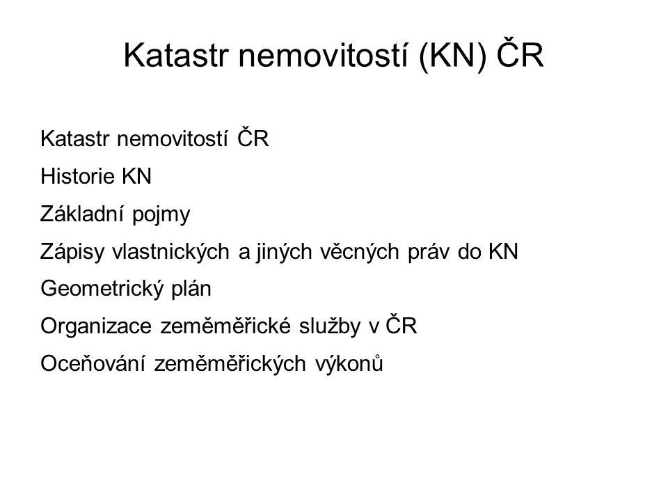 Katastr nemovitostí (KN) ČR
