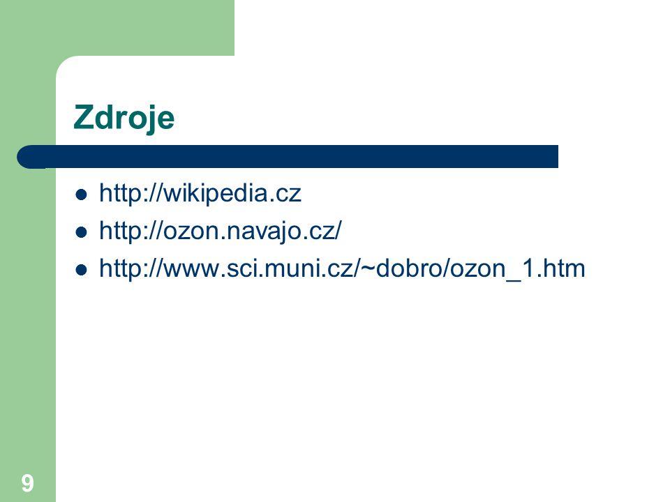 Zdroje http://wikipedia.cz http://ozon.navajo.cz/