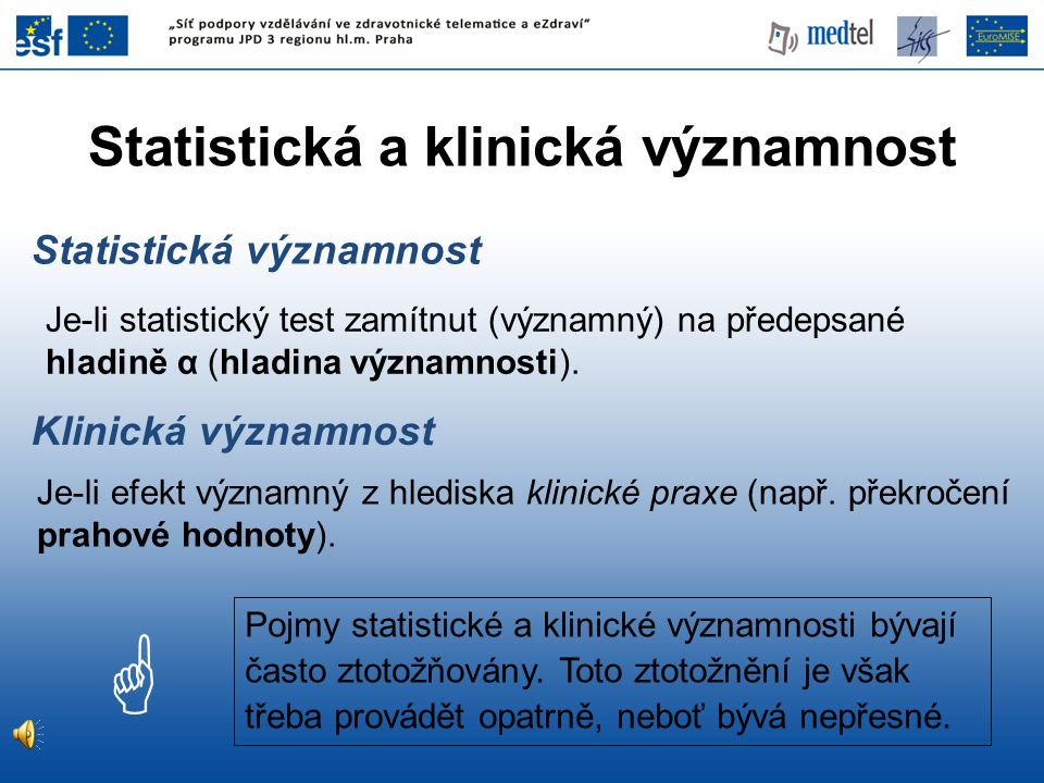 Statistická a klinická významnost