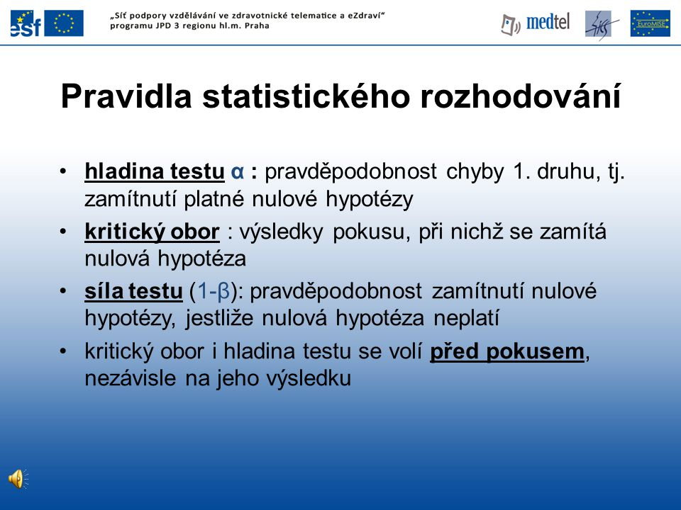 Pravidla statistického rozhodování