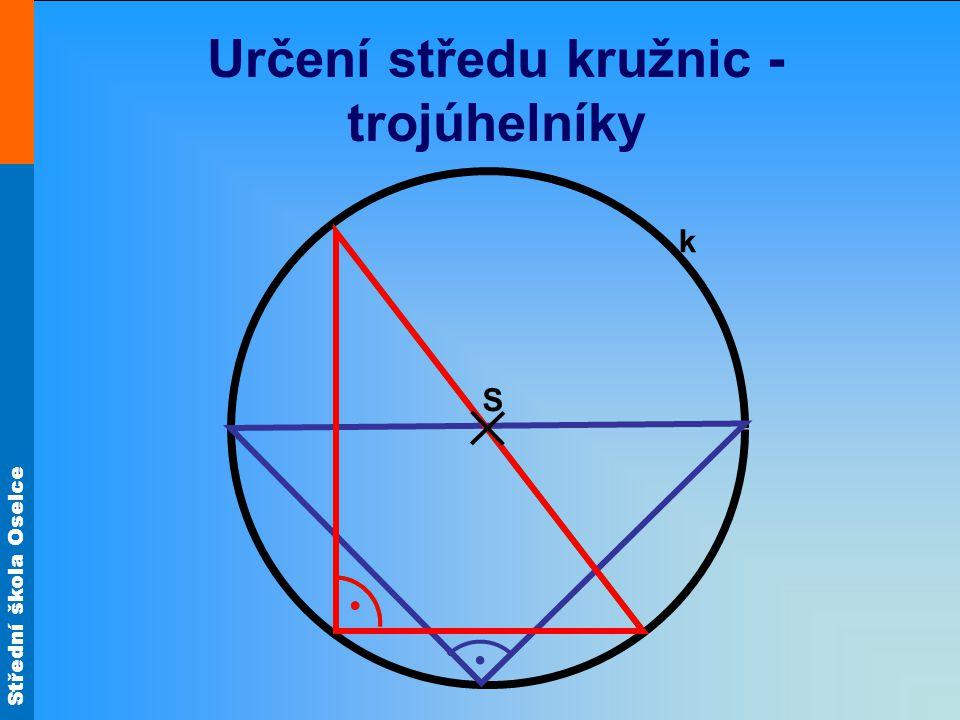 Určení středu kružnic - trojúhelníky