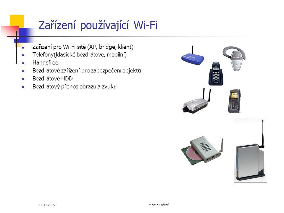 Zařízení používající Wi-Fi