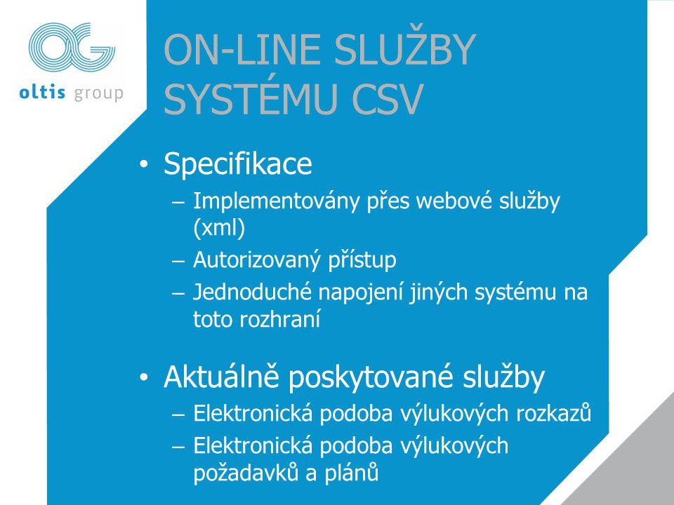 On-Line SLUŽBY Systému CSV