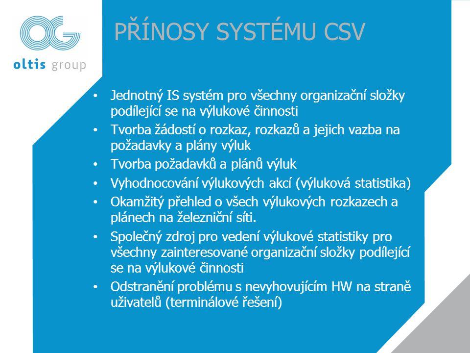 PŘÍNOSY SYSTÉMU CSV Jednotný IS systém pro všechny organizační složky podílející se na výlukové činnosti.
