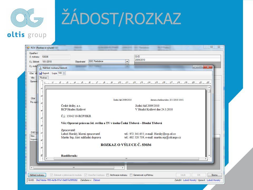 ŽÁDOST/ROZKAZ