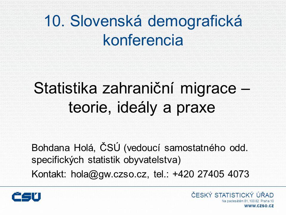 10. Slovenská demografická konferencia