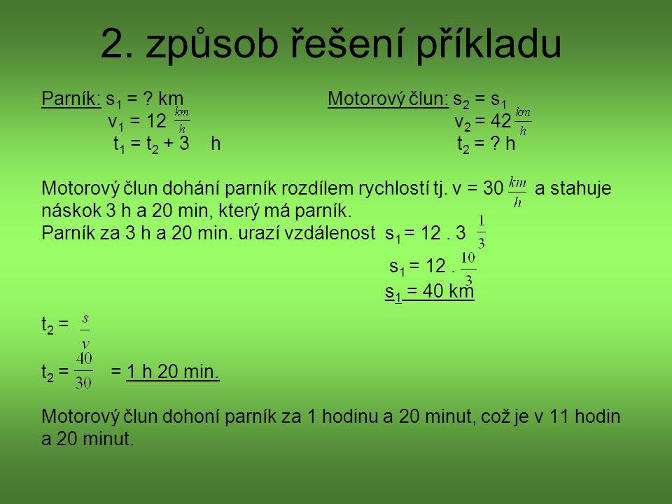 2. způsob řešení příkladu