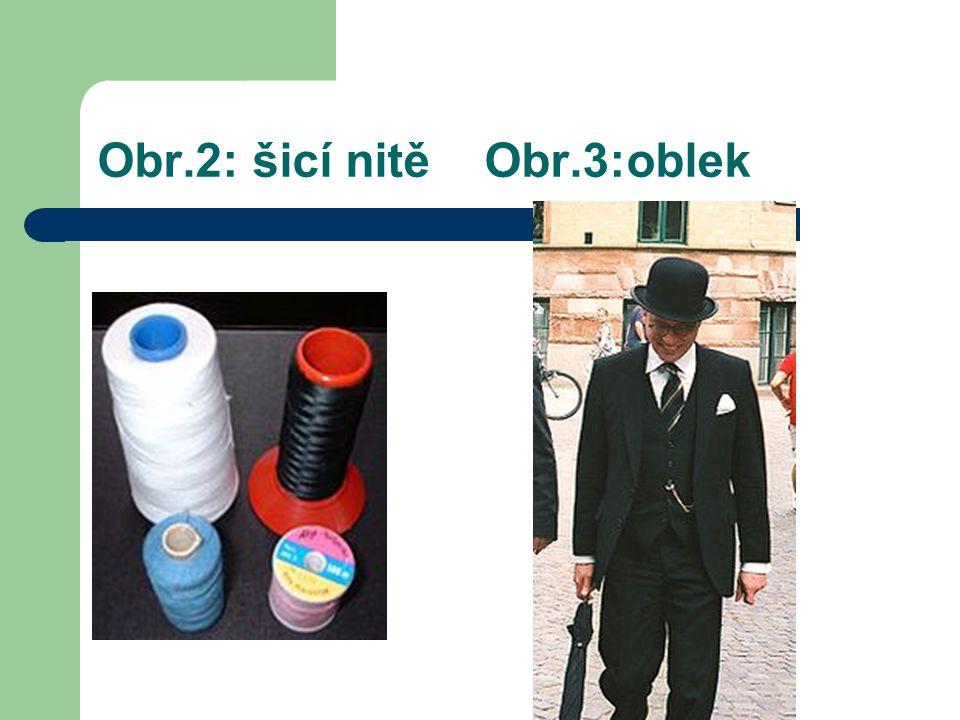 Obr.2: šicí nitě Obr.3:oblek