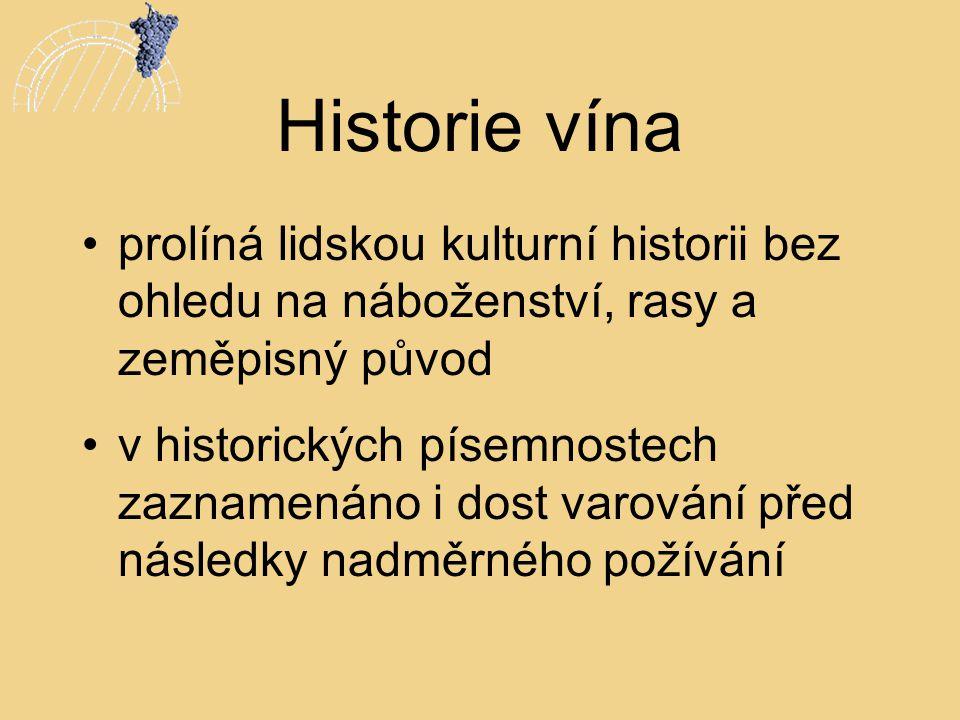 Historie vína prolíná lidskou kulturní historii bez ohledu na náboženství, rasy a zeměpisný původ.
