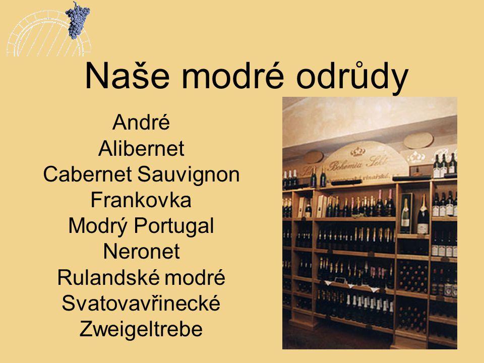 Naše modré odrůdy André Alibernet Cabernet Sauvignon Frankovka