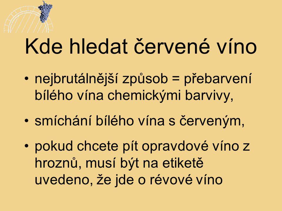 Kde hledat červené víno