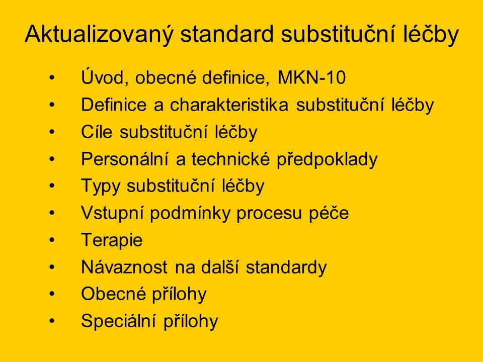 Aktualizovaný standard substituční léčby