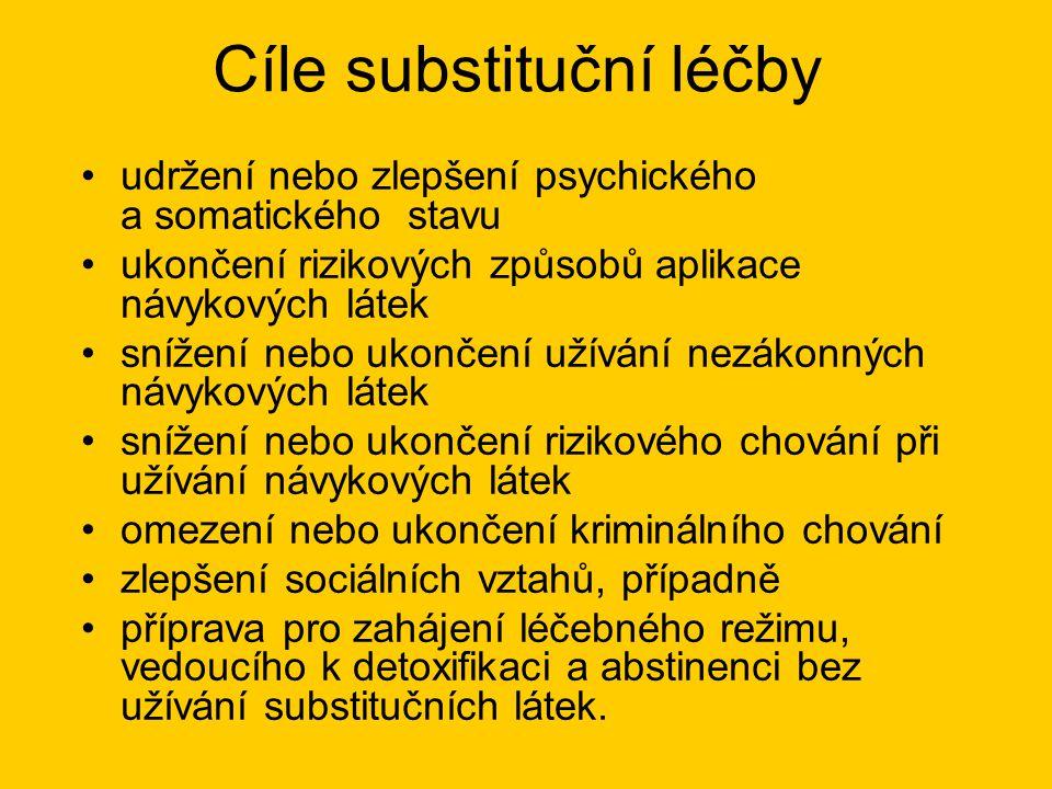 Cíle substituční léčby