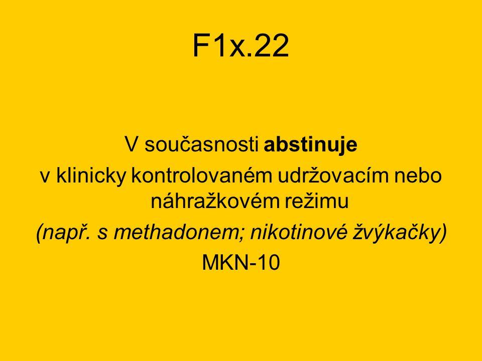 F1x.22 V současnosti abstinuje