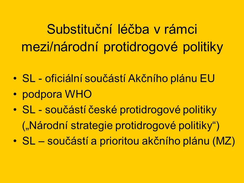 Substituční léčba v rámci mezi/národní protidrogové politiky