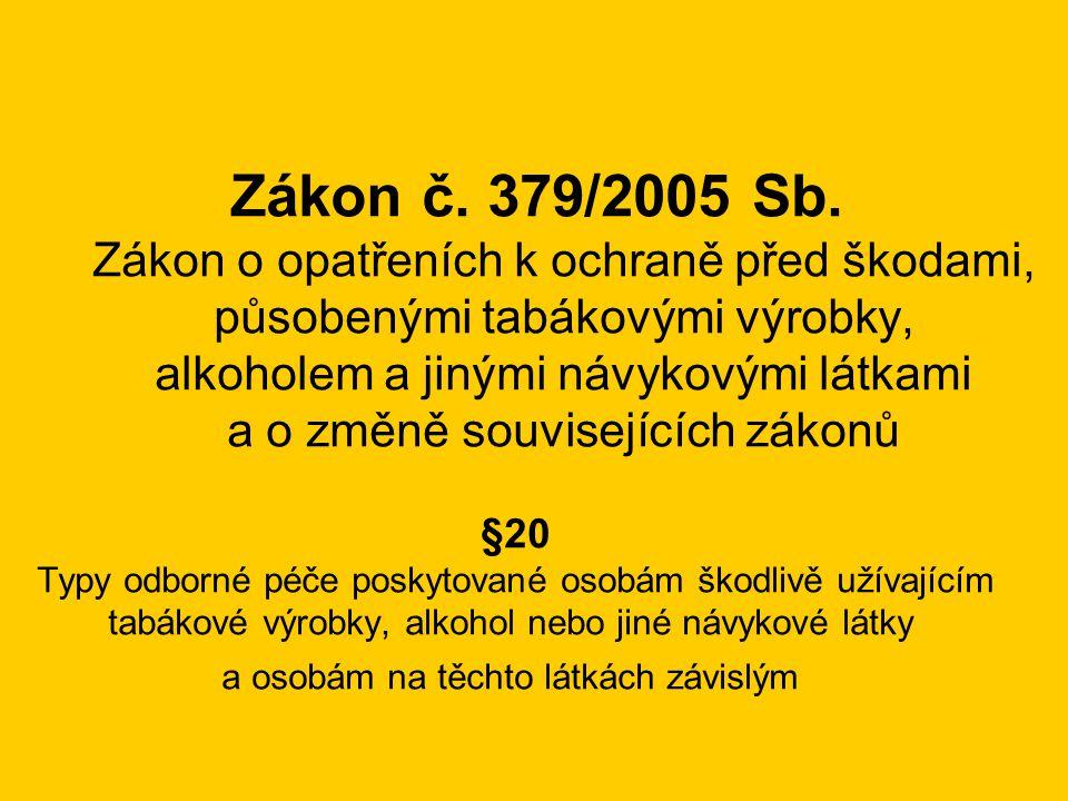 Zákon č. 379/2005 Sb. Zákon o opatřeních k ochraně před škodami,