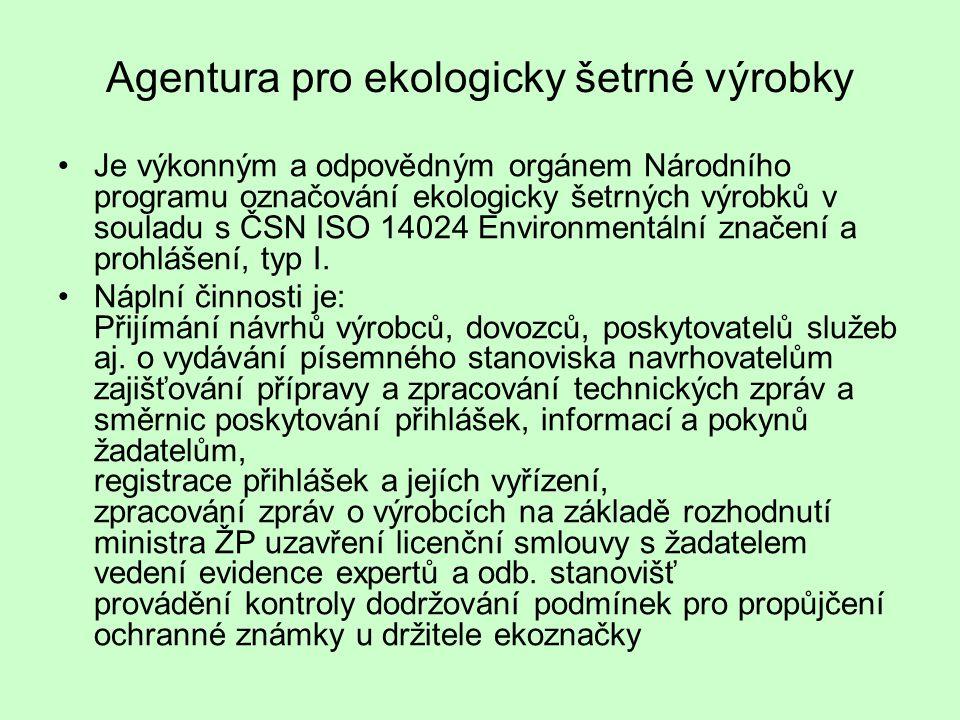 Agentura pro ekologicky šetrné výrobky