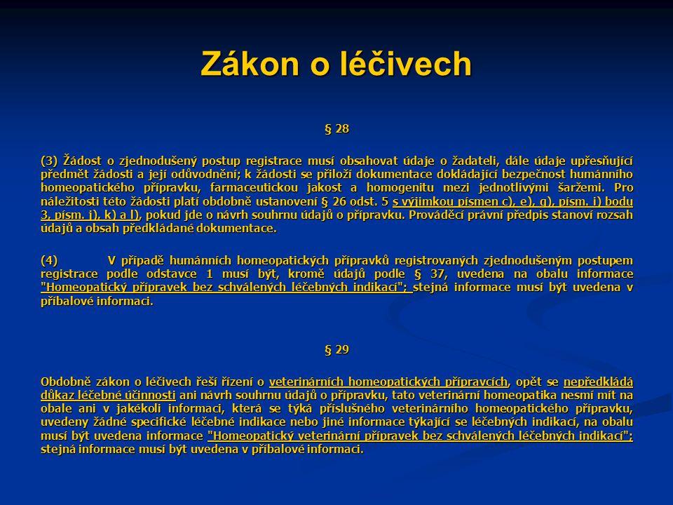 Zákon o léčivech § 28.