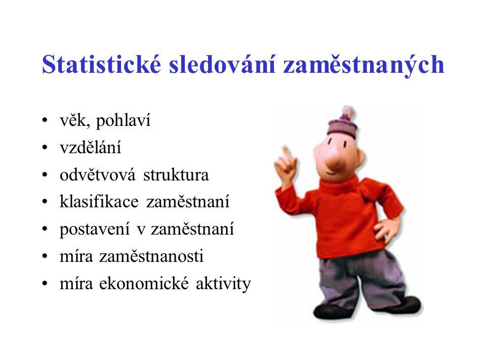Statistické sledování zaměstnaných