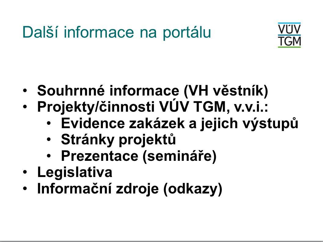 Další informace na portálu
