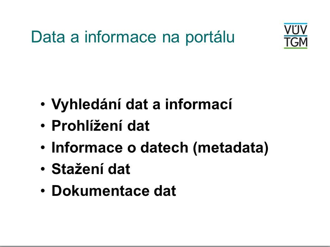 Data a informace na portálu