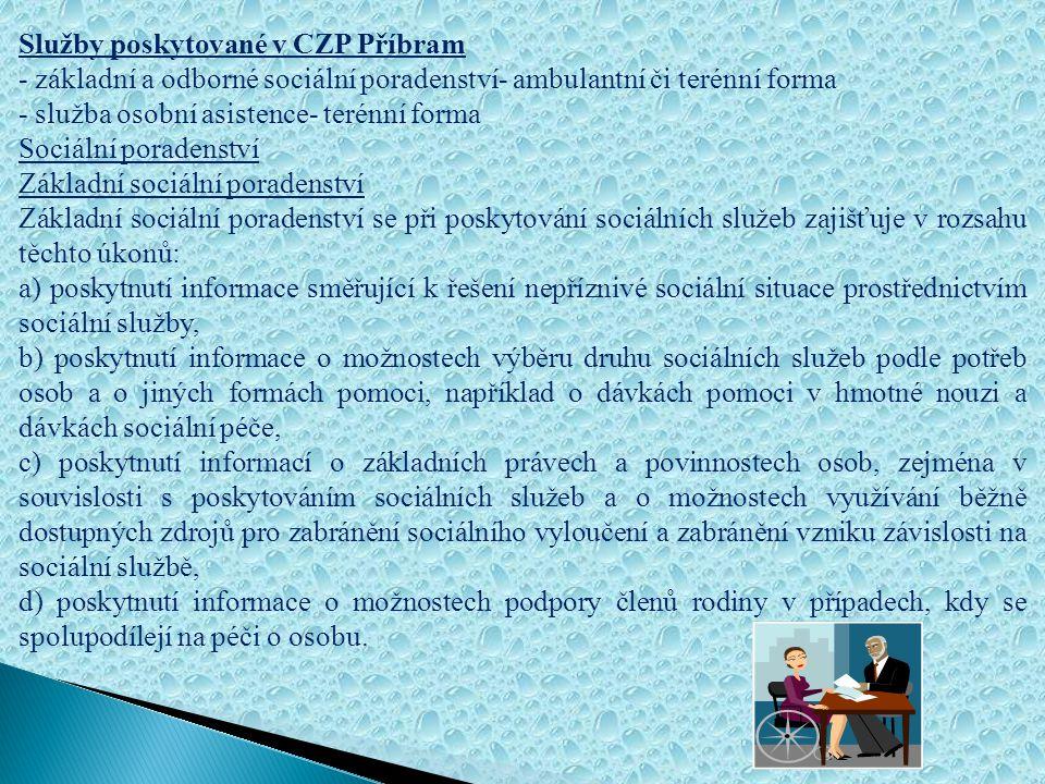 Služby poskytované v CZP Příbram