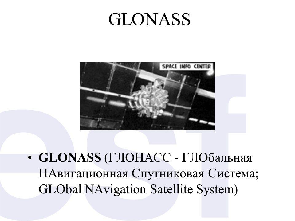 GLONASS GLONASS (ГЛОНАСС - ГЛОбальная НАвигационная Спутниковая Система; GLObal NAvigation Satellite System)