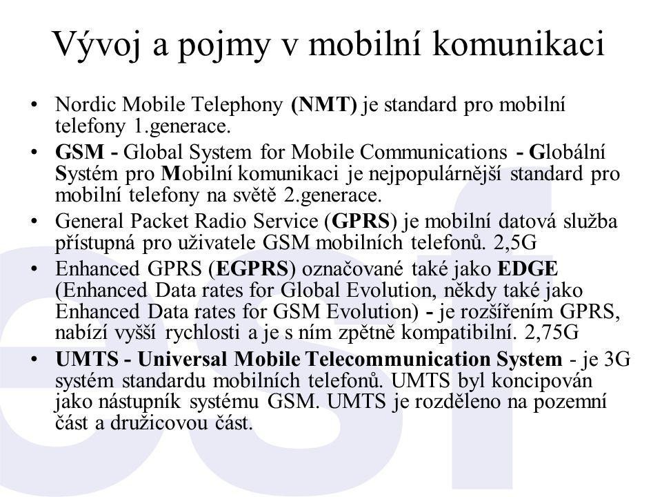 Vývoj a pojmy v mobilní komunikaci
