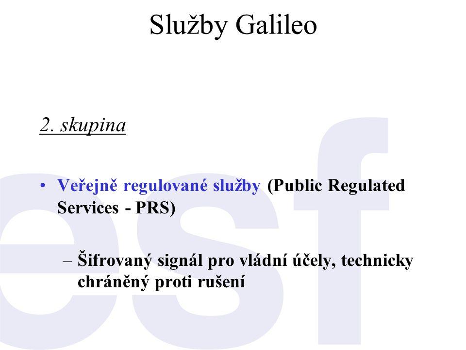 Služby Galileo 2. skupina