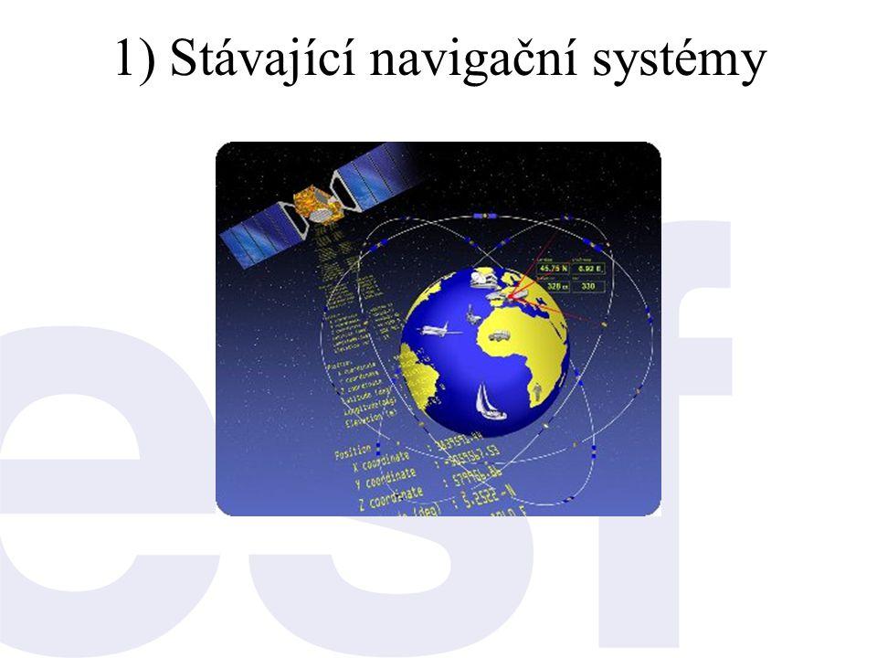1) Stávající navigační systémy