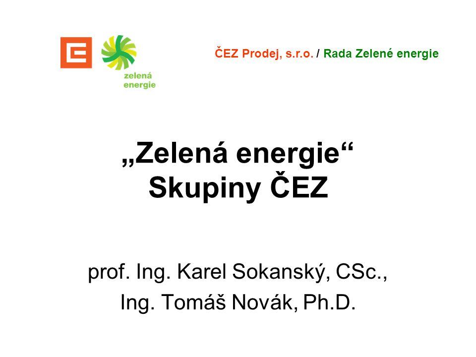 """""""Zelená energie Skupiny ČEZ"""