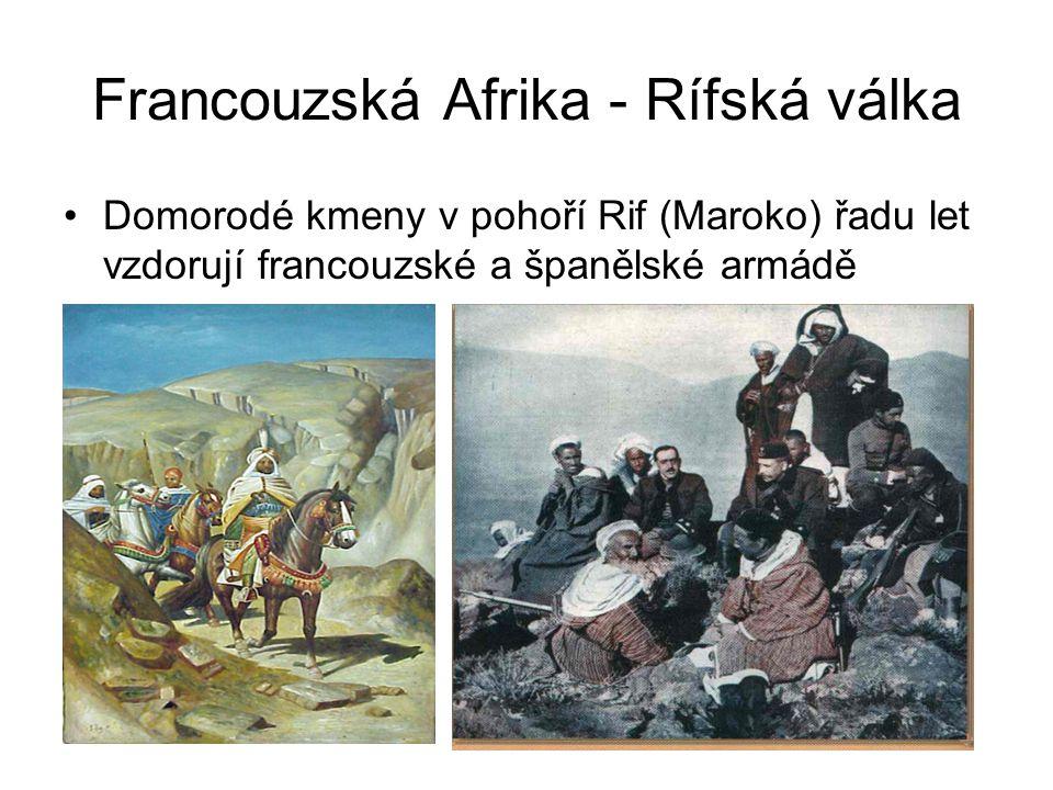 Francouzská Afrika - Rífská válka