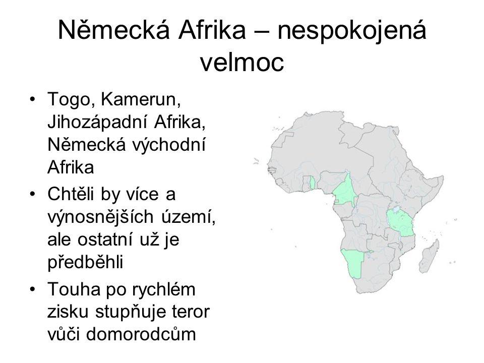 Německá Afrika – nespokojená velmoc